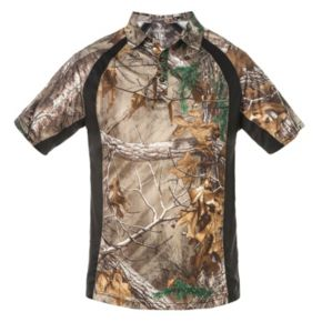 Men's Realtree Earthletics Slim-Fit Microfiber Performance Polo