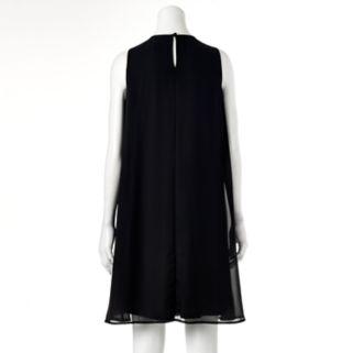 Women's Scarlett Embellished Black Shift Dress
