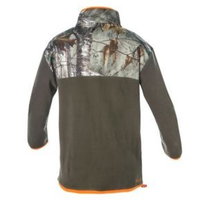 Big & Tall Realtree Earthletics Modern-Fit Camo Microfleece Quarter-Zip Pullover