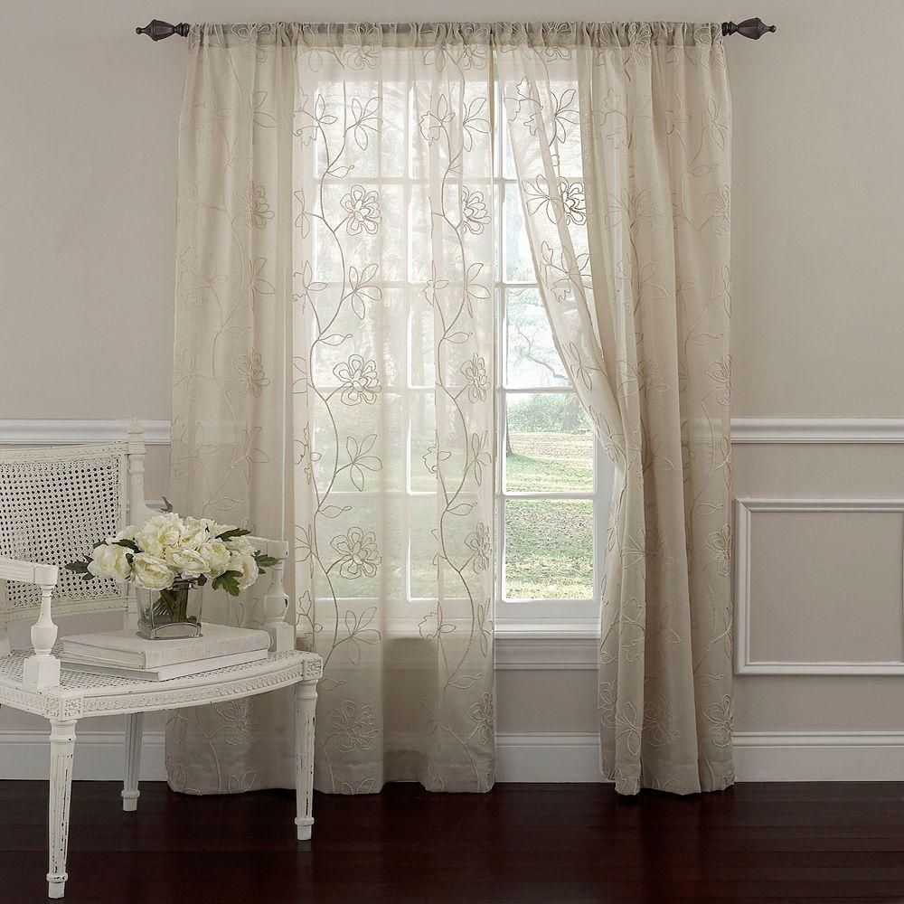 Ashley Frosting Sheer Window Curtain - Laura ashley silk curtains