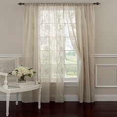 Laura Ashley Lifestyles 1-Panel Frosting Sheer Window Curtain