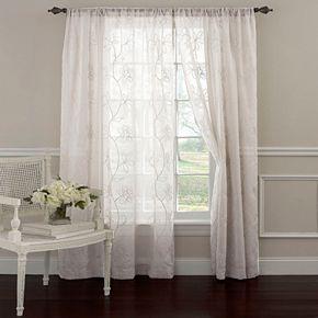 Laura Ashley Lifestyles 1-Panel Frosting Sheer Window Curtain