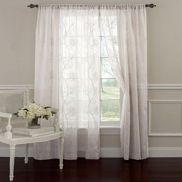 Panel Frosting Sheer Window Curtain