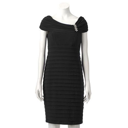 Women's Scarlett Shutter-Stripe Sheath Dress