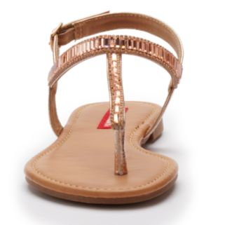 Unionbay Women's Beaded T-Strap Sandals