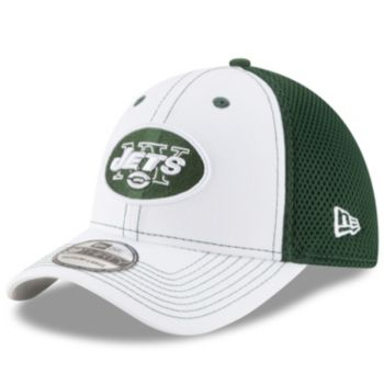 Adult New Era New York Jets 39THIRTY Team Front Neo Fitted Cap
