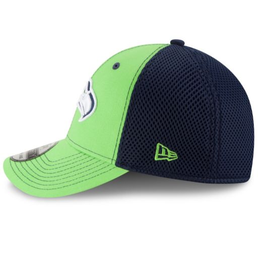 Adult New Era Seattle Seahawks 39THIRTY Team Front Neo Fitted Cap
