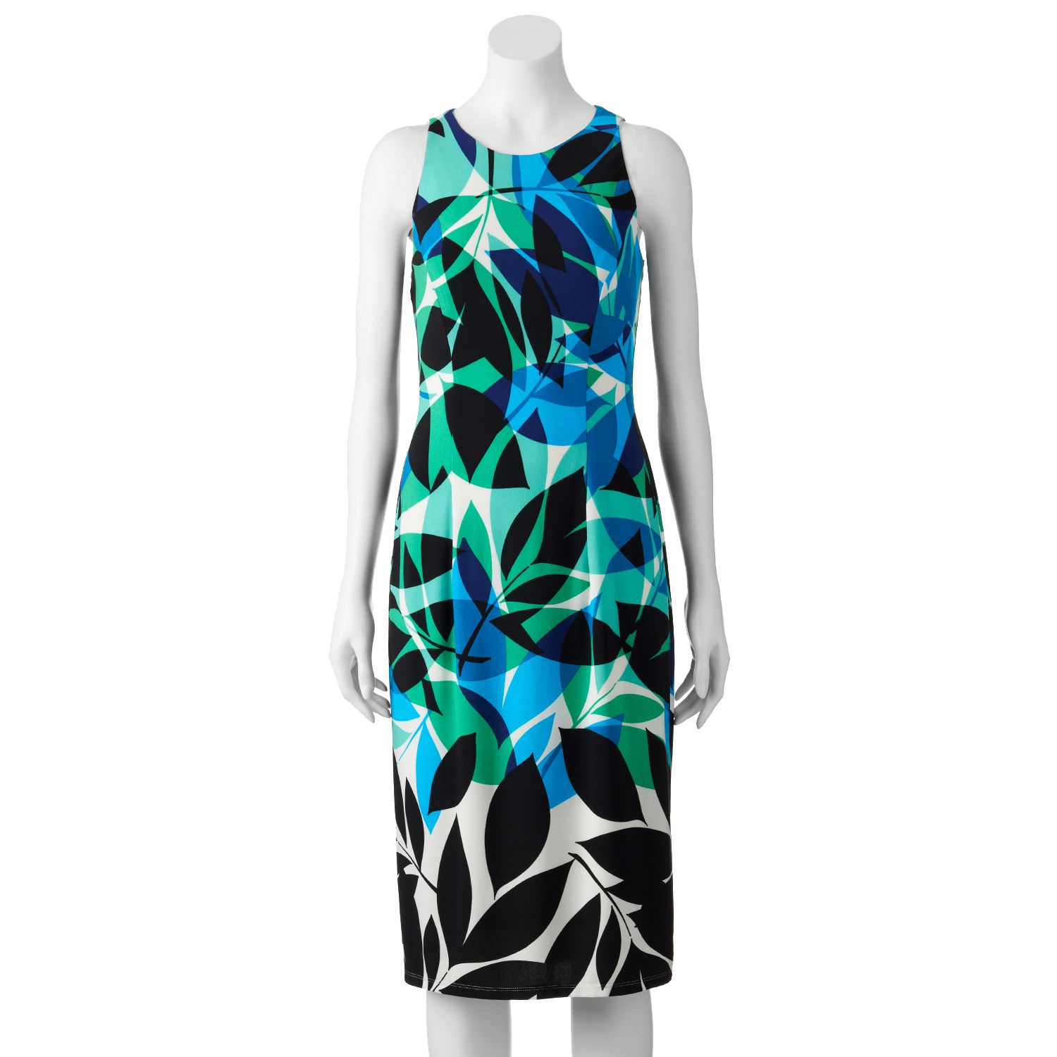 Womens Suite 7 Abstract Leaf Midi Dress