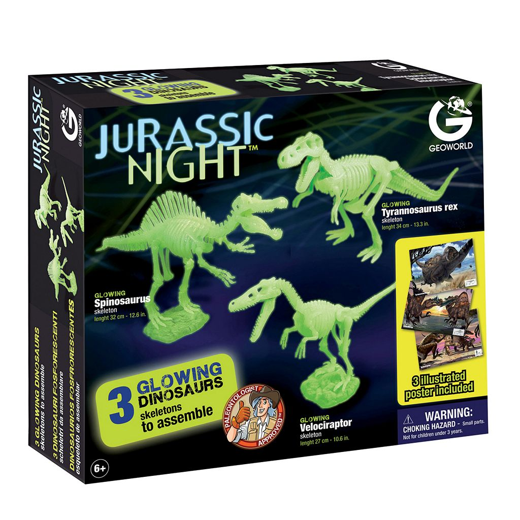 Geoworld Jurassic Night Glow-in-the-Dark Dinosaur Assembly Kit