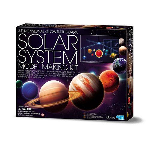 4M 3D Glow-In-The-Dark Solar System Model Making Science Kit