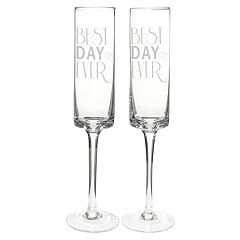 Cathy's Concepts 2 pc 'Best Day Ever' Champagne Flute Set