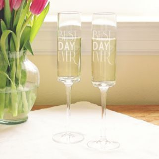 "Cathy's Concepts 2-pc. ""Best Day Ever"" Champagne Flute Set"