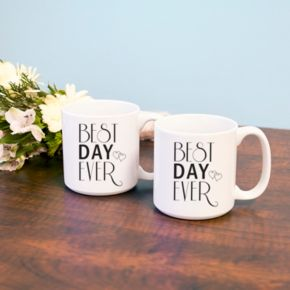 "Cathy's Concepts 2-pc. ""Best Day Ever"" Coffee Mug Set"