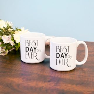 """Cathy's Concepts 2-pc. """"Best Day Ever"""" Coffee Mug Set"""