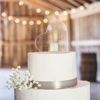 Cathy's Concepts Tie The Knot Heart Wedding Cake Topper
