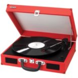 Jensen Portable 3-Speed Stereo Turntable with Built-In Speakers