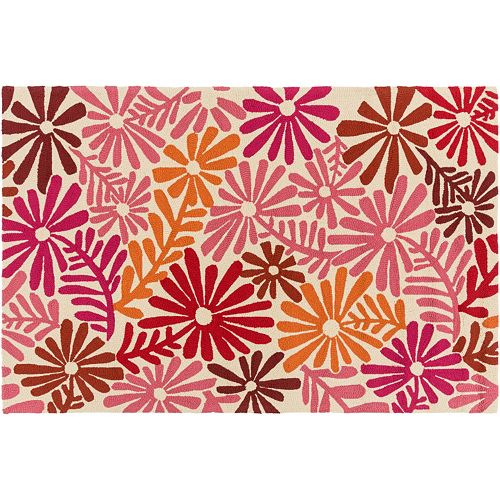 Decor 140 bully choop floral indoor outdoor rug for Decor 140 rugs