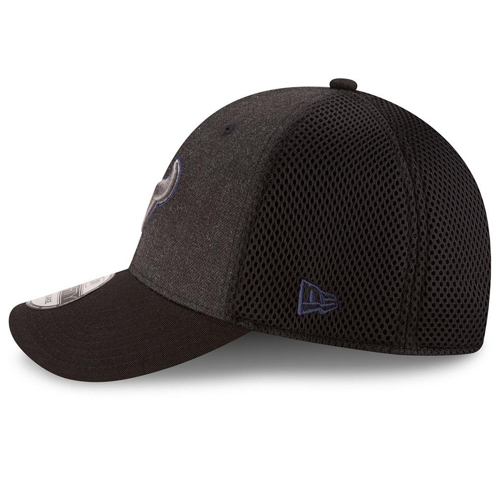 Adult New Era Houston Texans 39THIRTY Heathered Neo Flex-Fit Cap