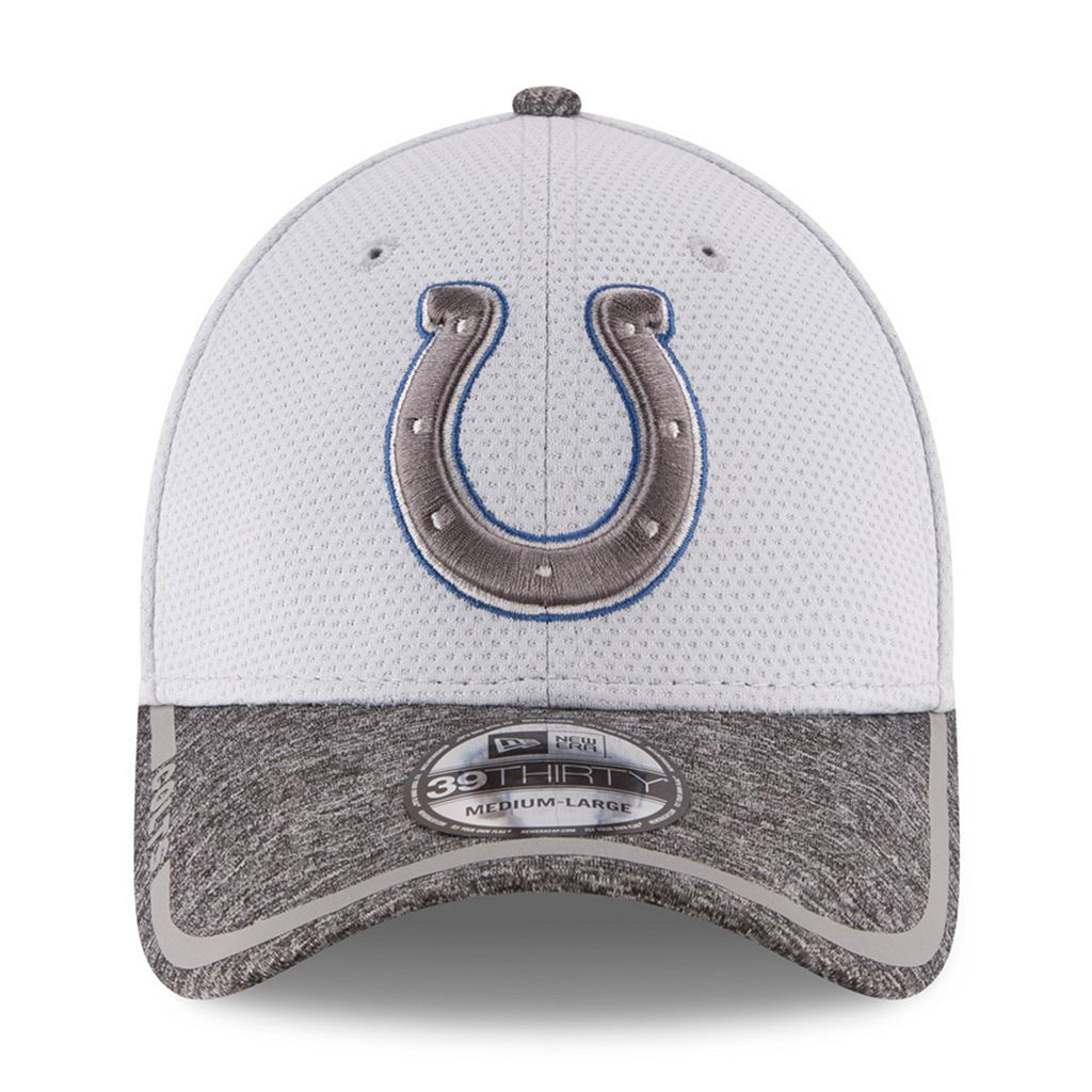 Adult New Era Indianapolis Colts 39THIRTY Training Camp Fitted Cap