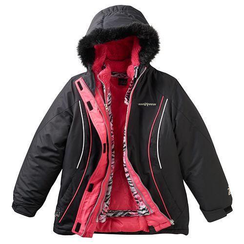 f660a383e Girls 7-16 ZeroXposur 3-in-1 Celine Heavyweight Systems Jacket