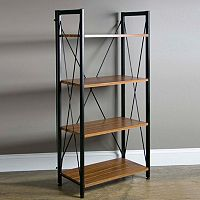 Baxton Studio New Semester 4-Shelf Bookshelf