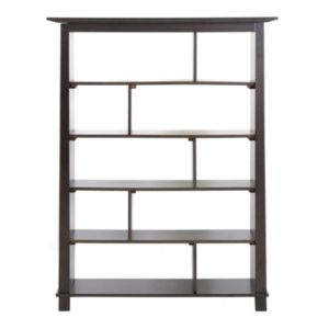 Baxton Studio Havana Wood Tall Bookcase