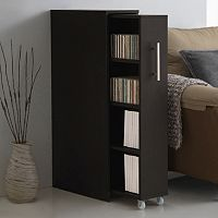 Baxton Studio Lindo Bookcase & Single Pull-Out Shelving Cabinet