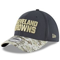 Adult New Era Cleveland Browns 39THIRTY Salute to Service Camo Fitted Cap