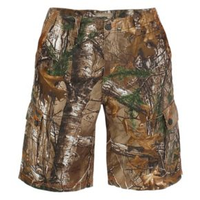 Men's Realtree Earthletics Modern-Fit Camo Twill Cargo Shorts