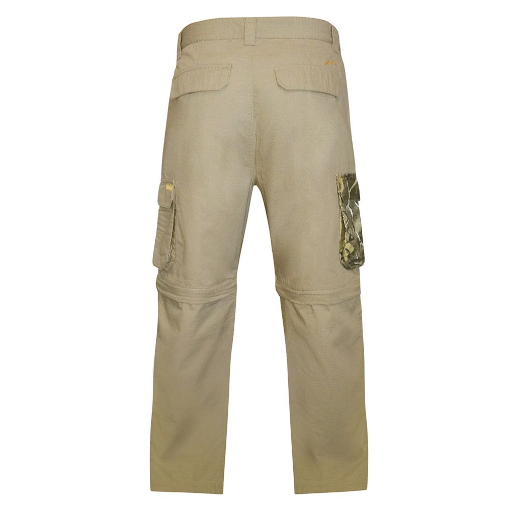 Men's Realtree Earthletics Modern-Fit Ripstop Convertible Cargo Pants
