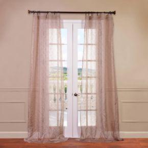 EFF 1-Panel Zara Patterned Sheer Window Curtain