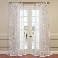 EFF Zara Patterned Sheer Window Curtain