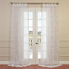EFF 1-Panel Zara Patterned Sheer Window Curtain