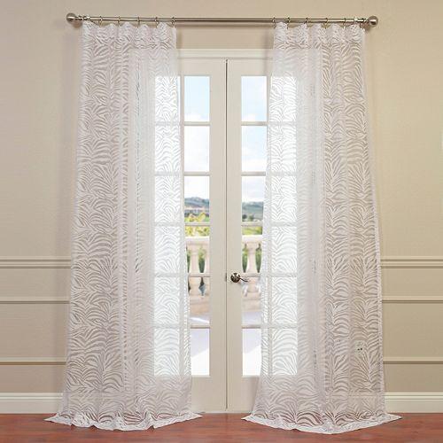 EFF Zara Patterned Sheer Window Curtain