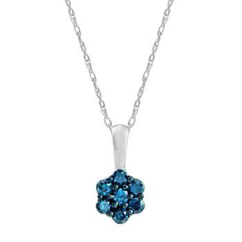 london necklace and blue diamond pendant topaz