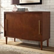 Everett Record Player Media Console Table