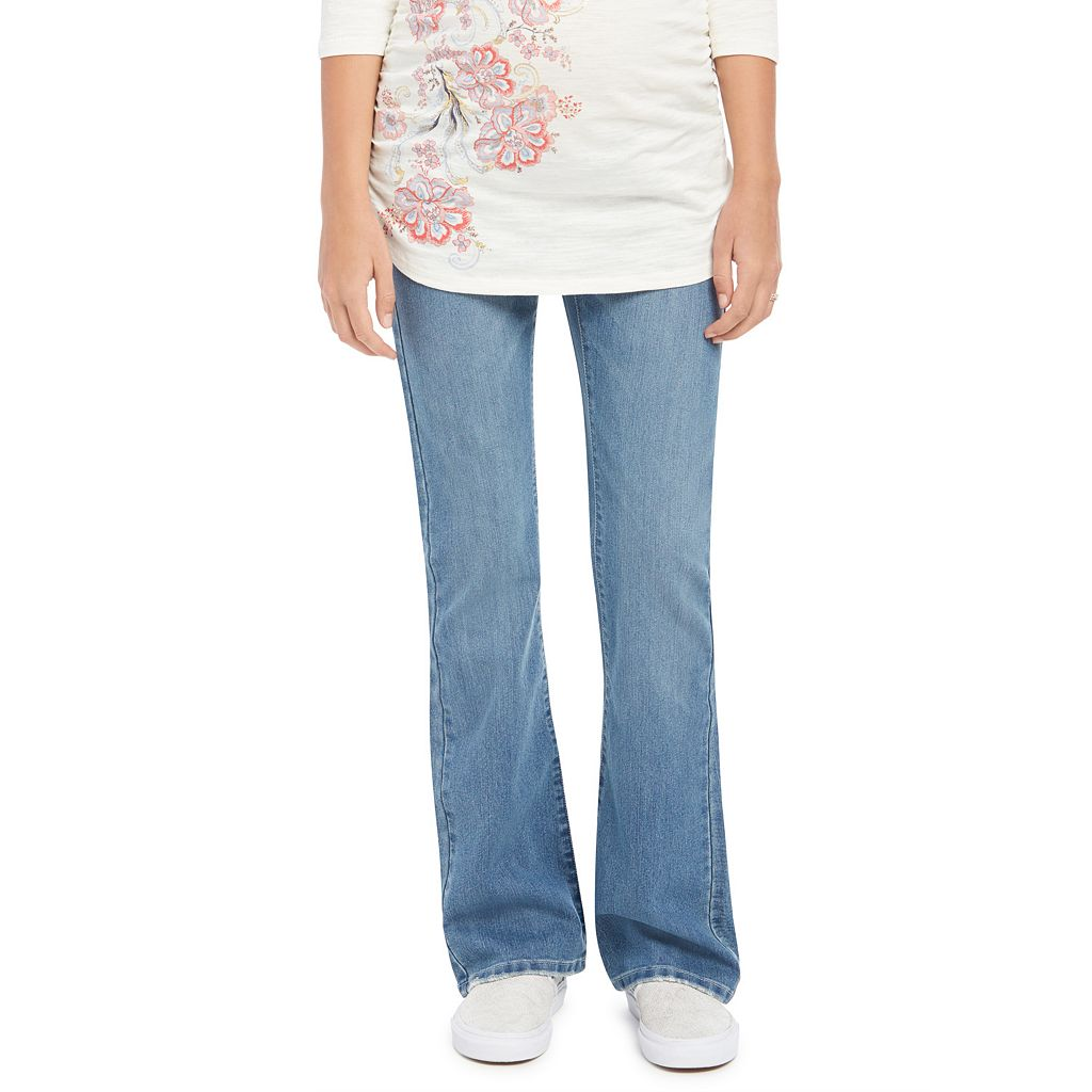 Petite Maternity Oh Baby by Motherhood™ Secret Fit Belly™ Embroidered Bootcut Jeans