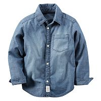 Baby Boy Carter's Chambray Woven Button-Down Shirt