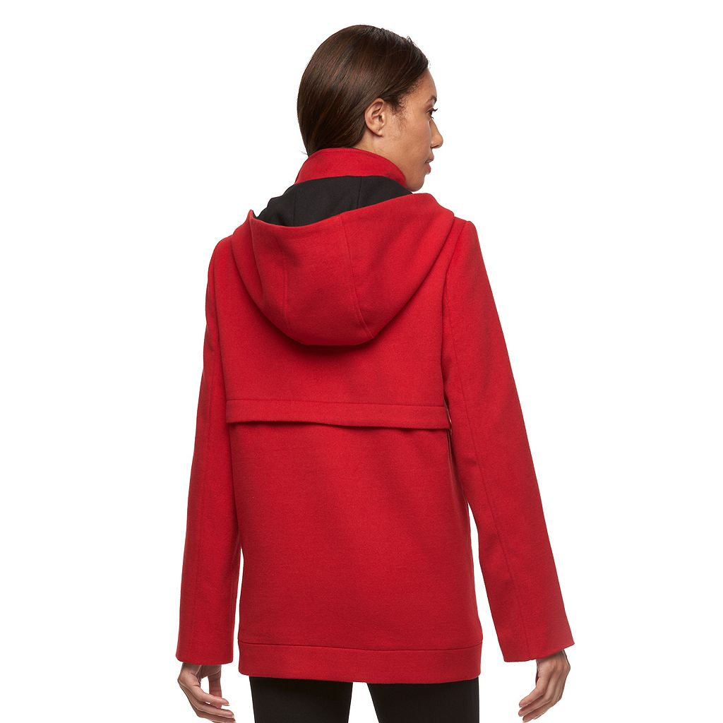 Women's Croft & Barrow® Hooded Peacoat
