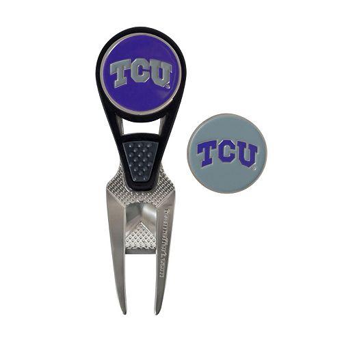 Team Effort TCU Horned Frogs CVX Ball Mark Divot Repair Tool