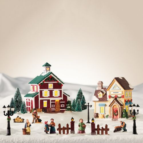 St. Nicholas Square® Village 20-piece Bakery / Barn Starter Set