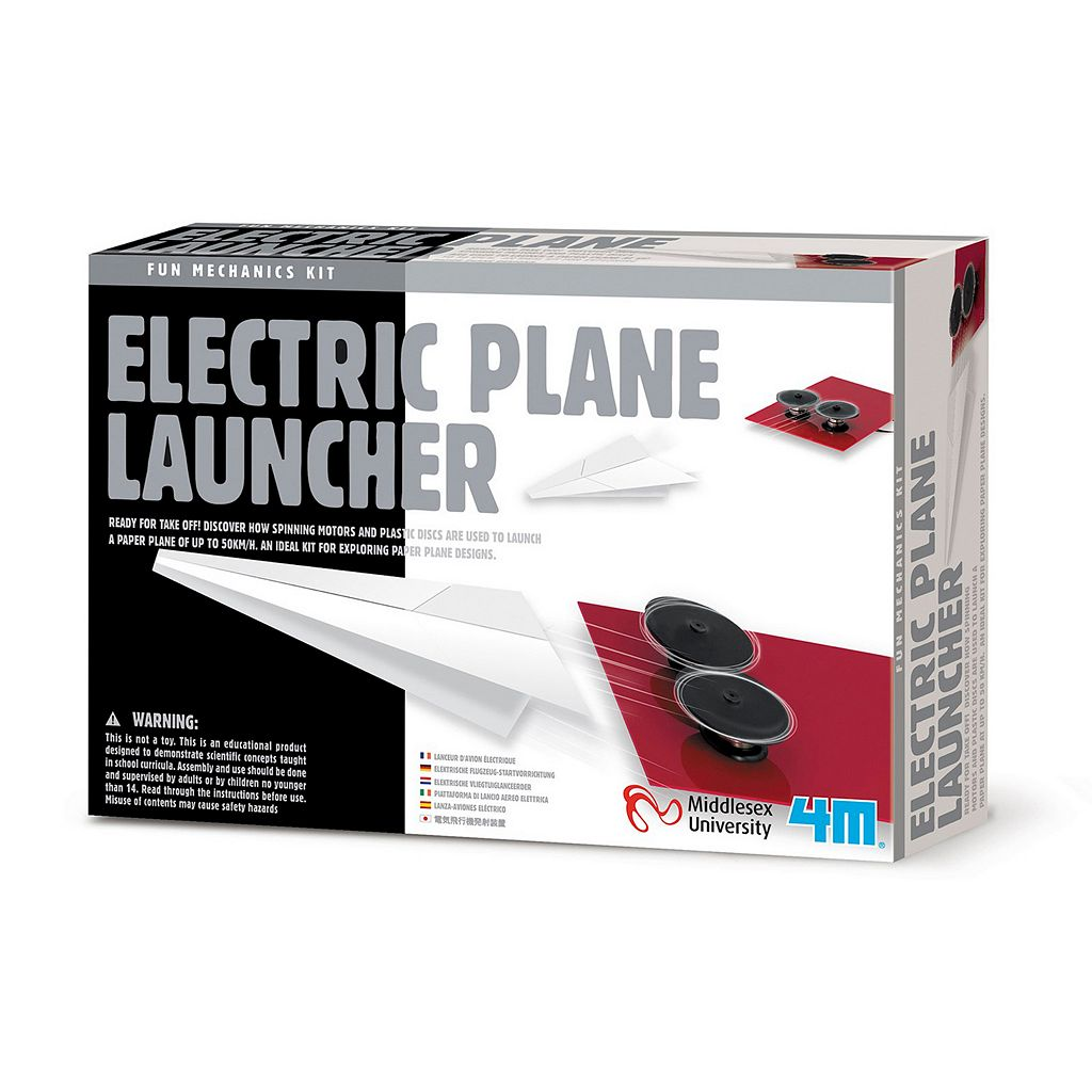 Toysmith 4M Electric Plane Launcher Science Kit