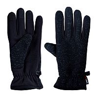 Men's Heat Keep Knit Tech Gloves with Rubber Grippers