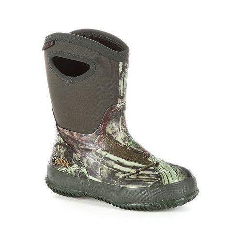 296be15552deb Rocky Mossy Oak Core Boys' Waterproof Boots