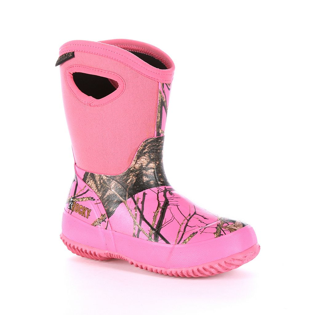 Rocky Mossy Oak Core Girls' Waterproof Boots