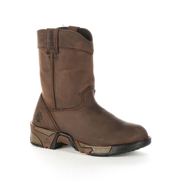 Rocky Boys' Pull-On Leather Boots