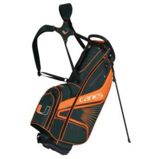 Team Effort Miami Hurricanes Gridiron III Golf Stand Bag