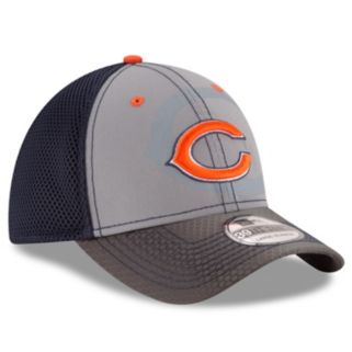 Adult New Era Chicago Bears 39THIRTY Flashed Front Neo Flex-Fit Cap