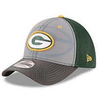 Adult New Era Green Bay Packers 39THIRTY Flashed Front Neo Flex-Fit Cap