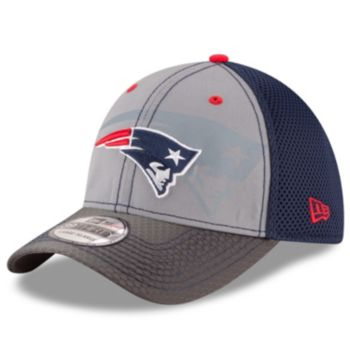 Adult New Era New England Patriots 39THIRTY Flashed Front Neo Flex-Fit Cap